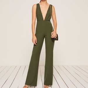 Reformation Vice Jumpsuit Army Green Size L